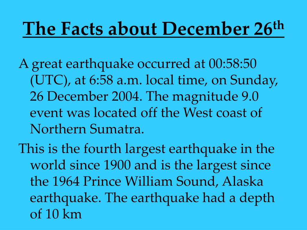 The Facts about December 26