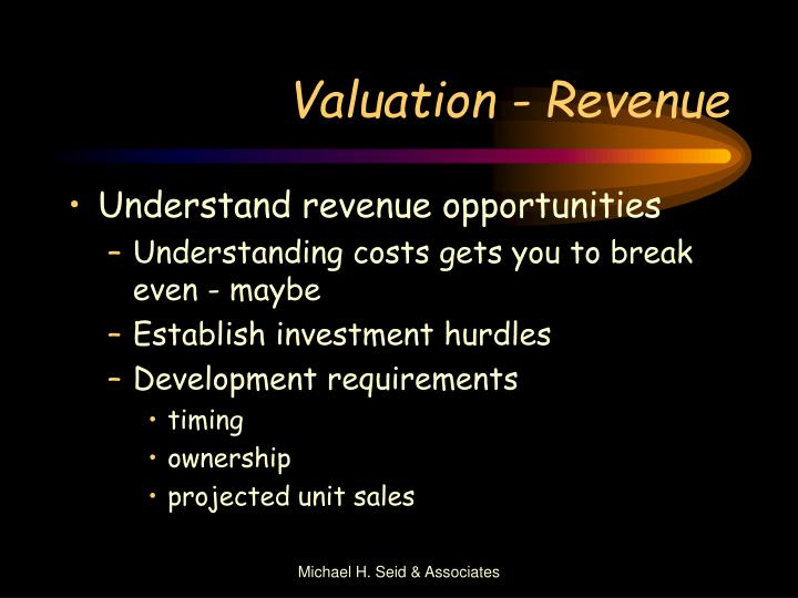 Valuation - Revenue