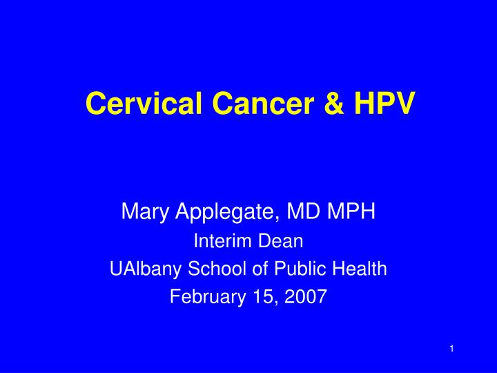 Cervical cancer hpv