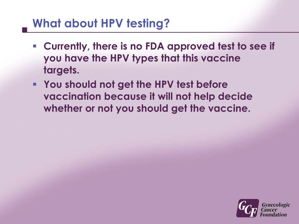 What about HPV testing?