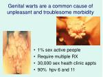 genital warts are a common cause of unpleasant and troublesome morbidity