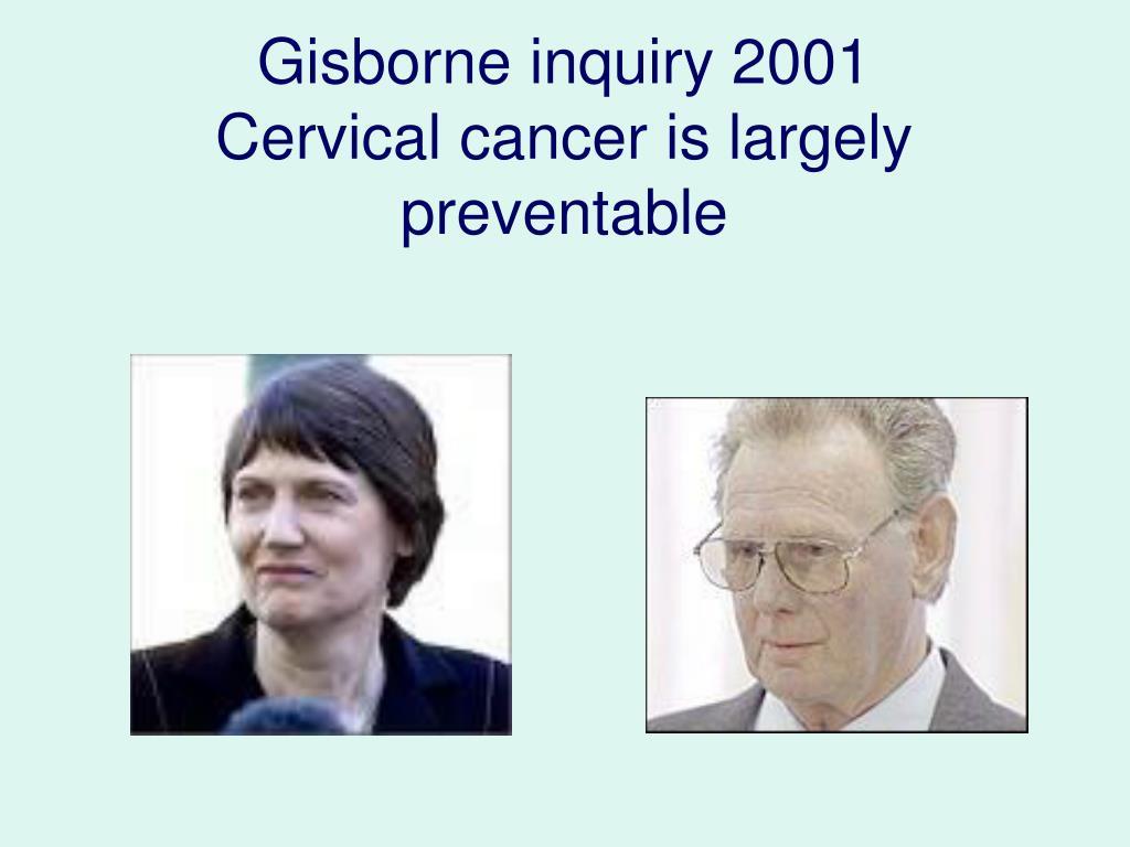 Gisborne inquiry 2001