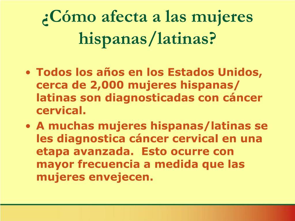 ¿Cómo afecta a las mujeres hispanas/latinas?