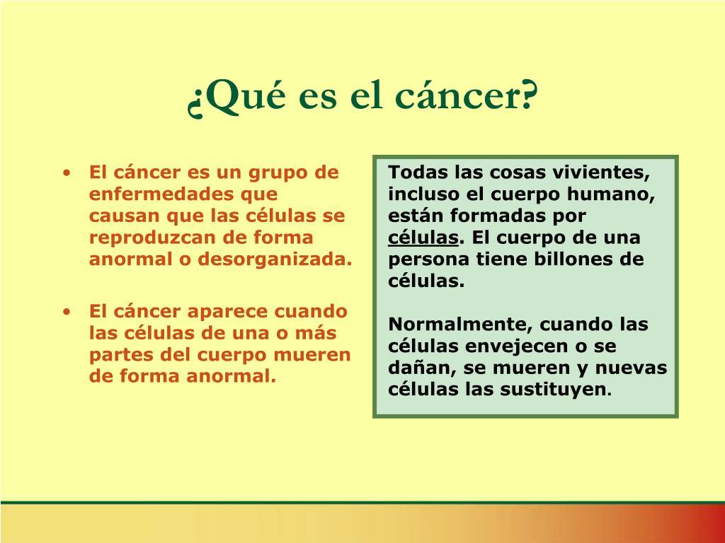 ¿Qué es el cáncer?