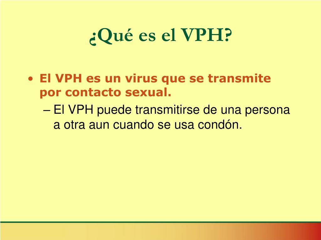 ¿Qué es el VPH?