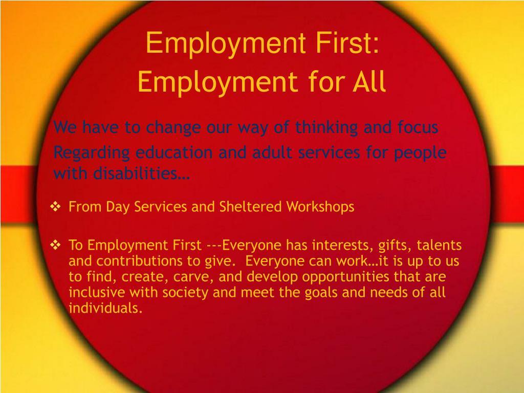 Employment First: