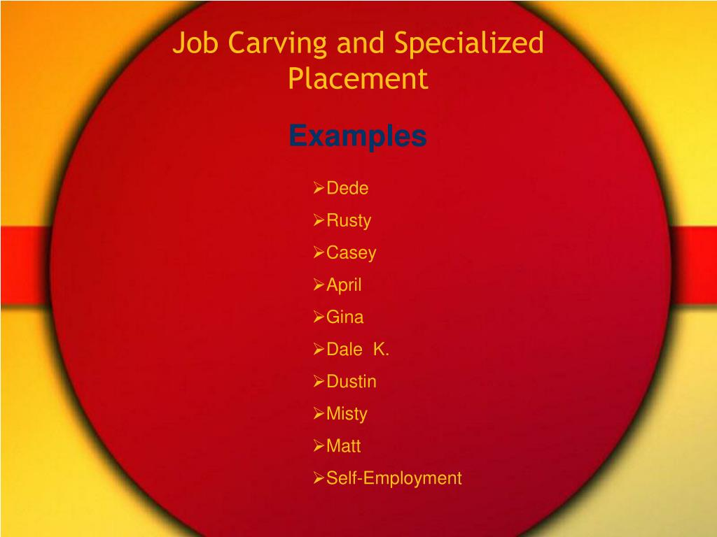 Job Carving and Specialized Placement