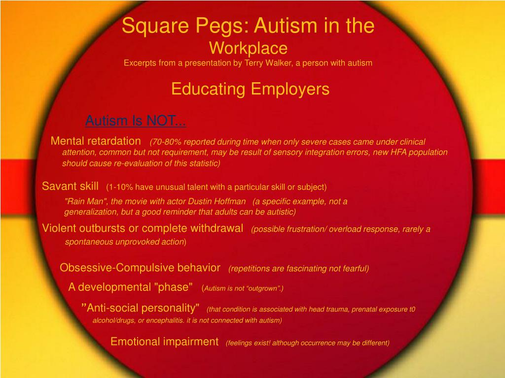 Square Pegs: Autism in the