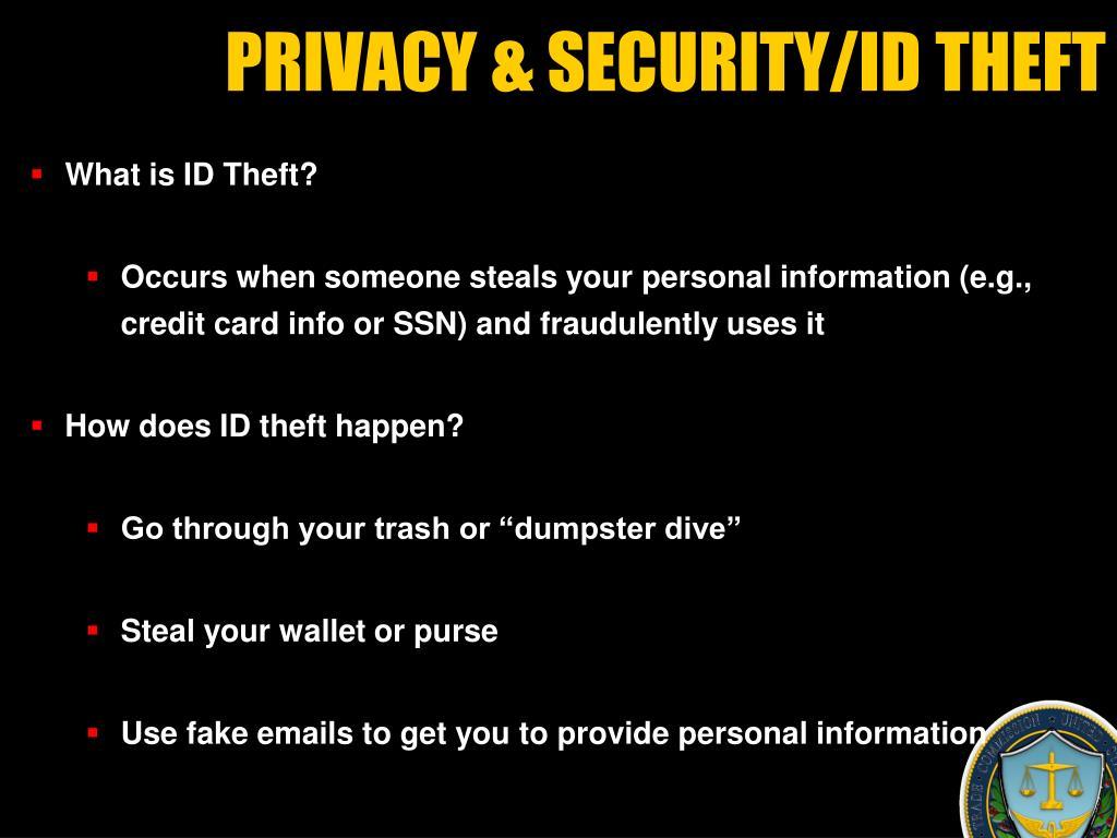 PRIVACY &