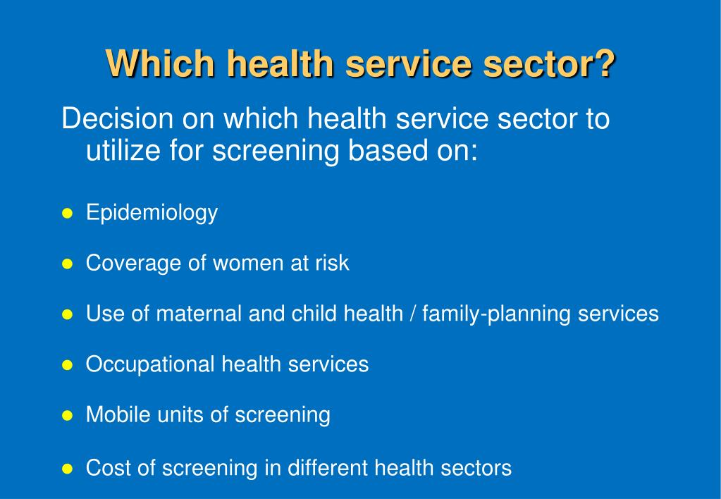 Which health service sector?