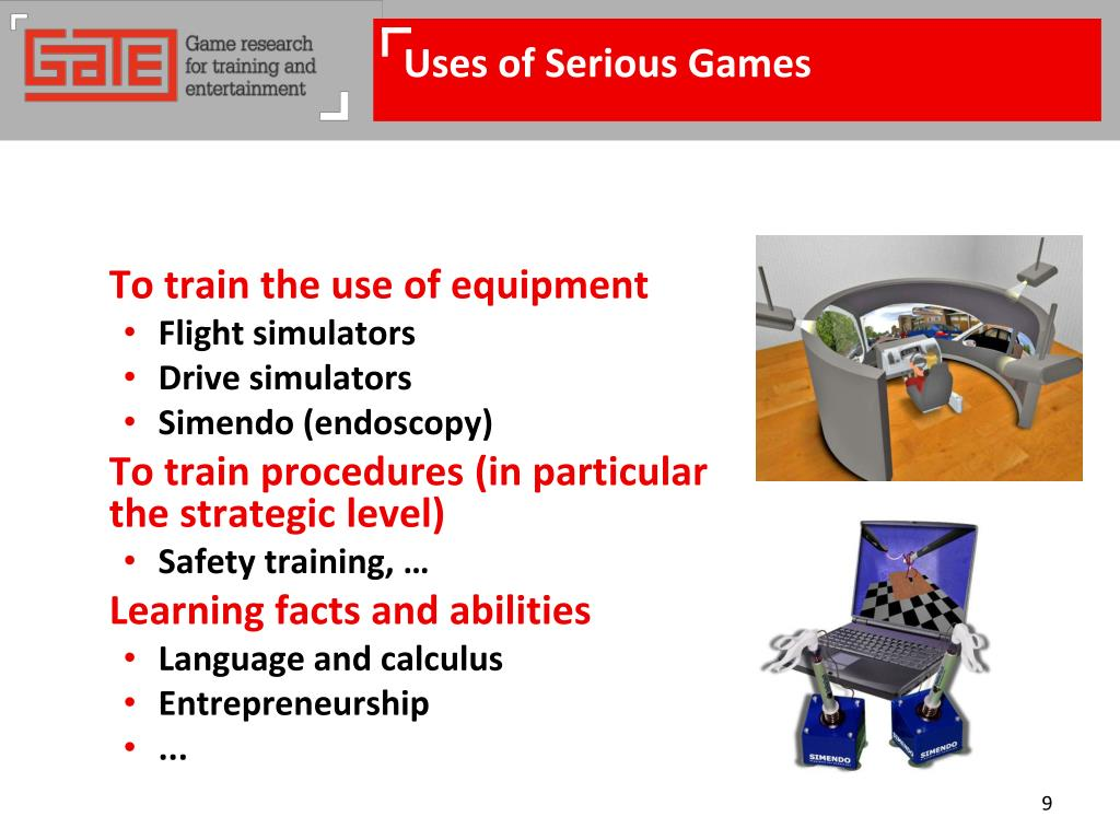 Uses of Serious Games