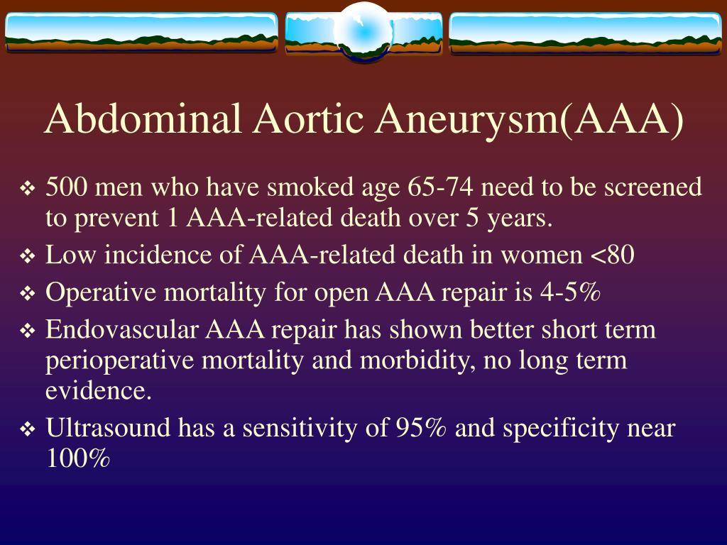 Abdominal Aortic Aneurysm(AAA)