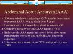 abdominal aortic aneurysm aaa27