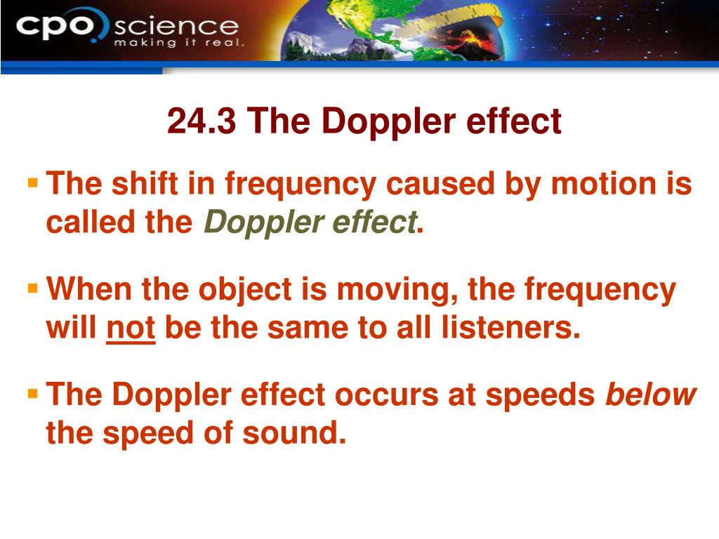 24.3 The Doppler effect