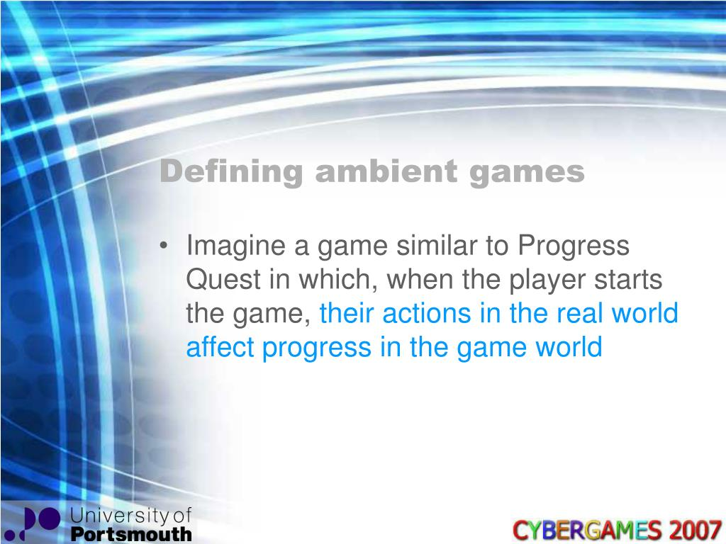 Defining ambient games