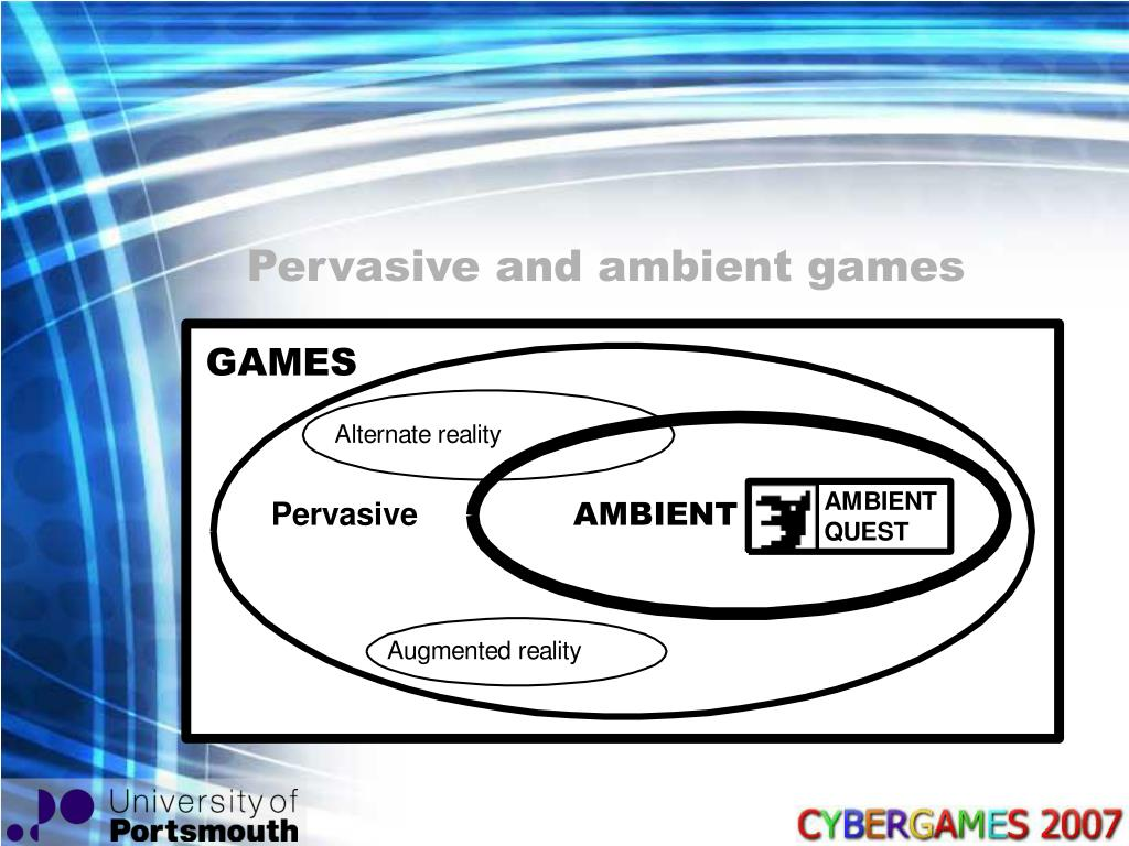 Pervasive and ambient games