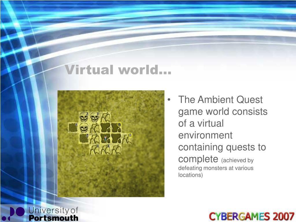 Virtual world…