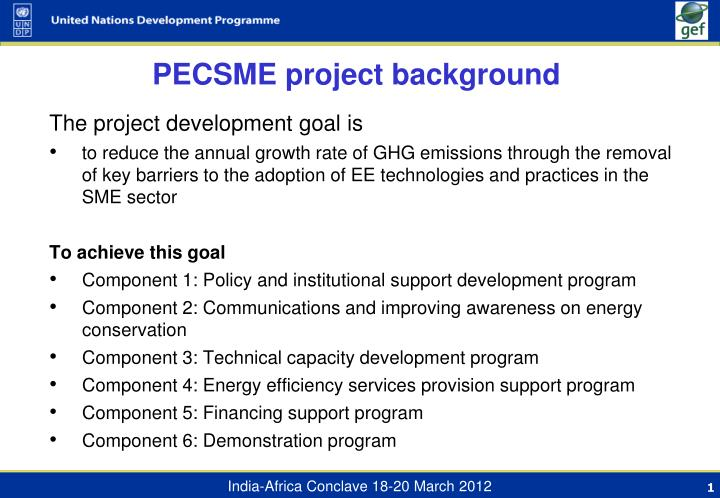 Pecsme project background