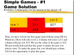 simple games 1 game solution