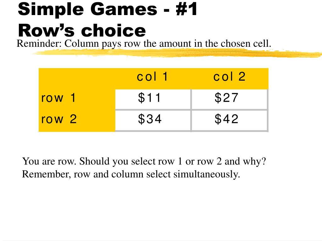 Simple Games - #1