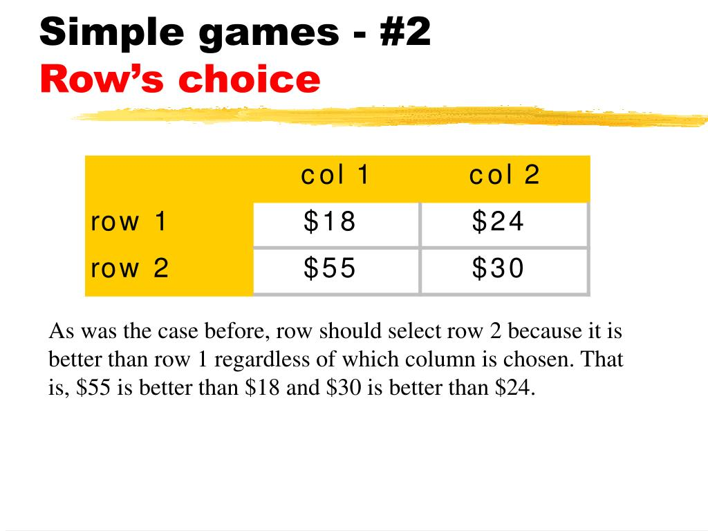 Simple games - #2