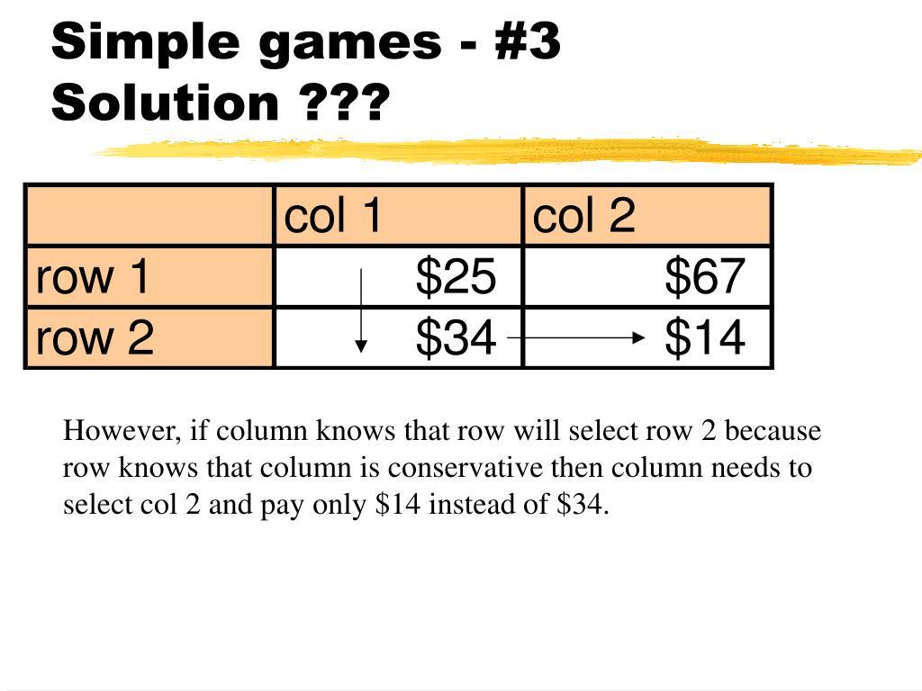 Simple games - #3