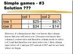 simple games 3 solution29