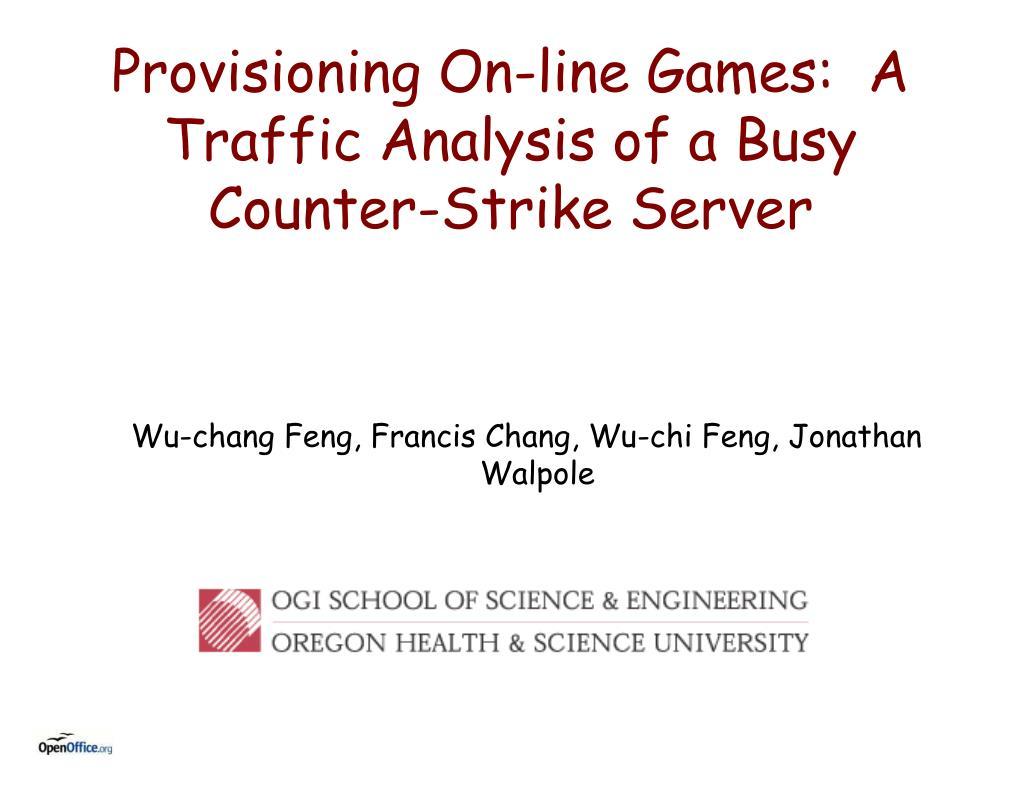 Wu-chang Feng, Francis Chang, Wu-chi Feng, Jonathan Walpole