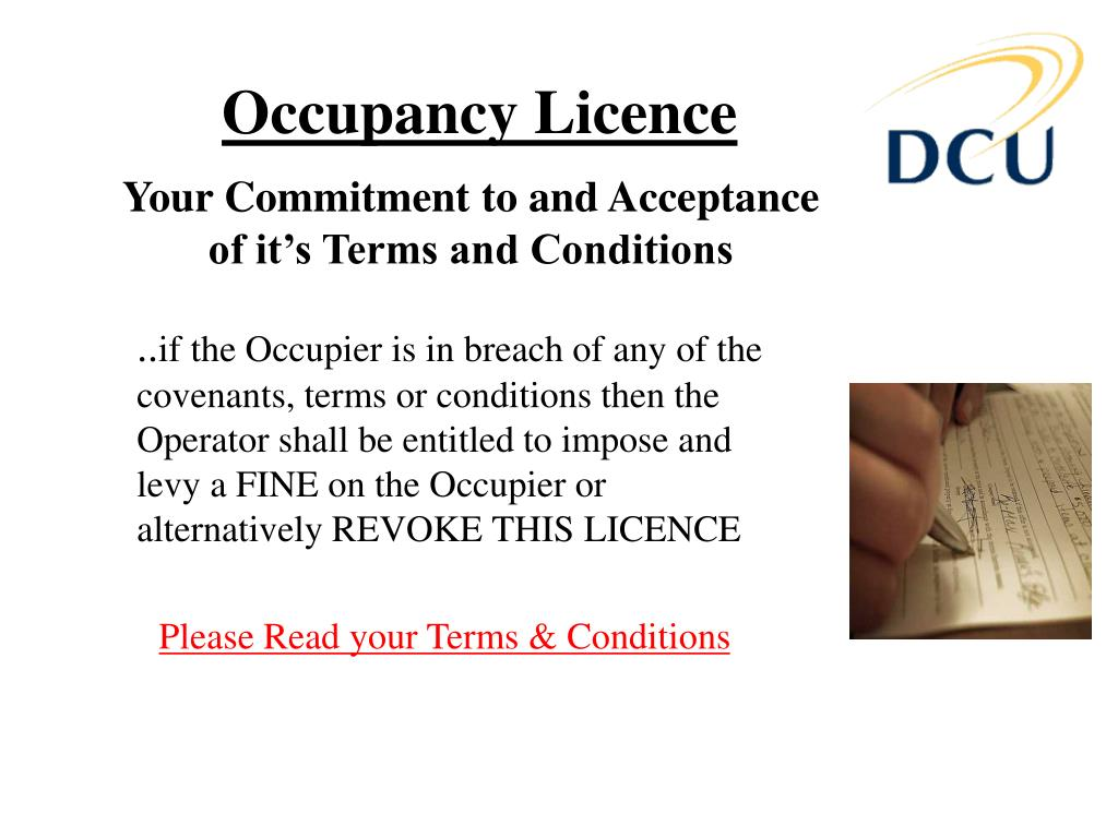 Occupancy Licence