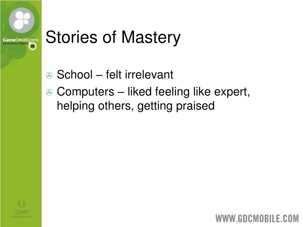 Stories of Mastery