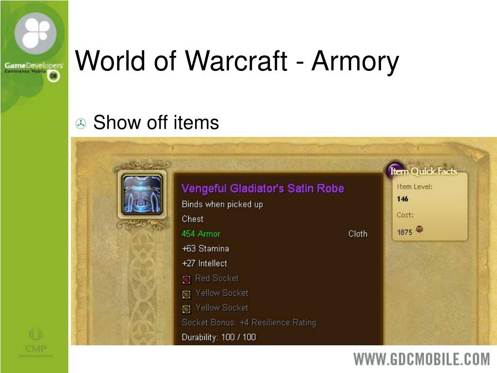 World of Warcraft - Armory