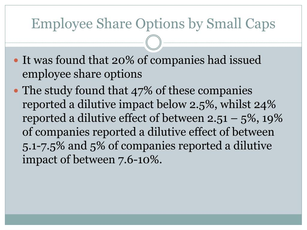 Employee Share Options by Small Caps
