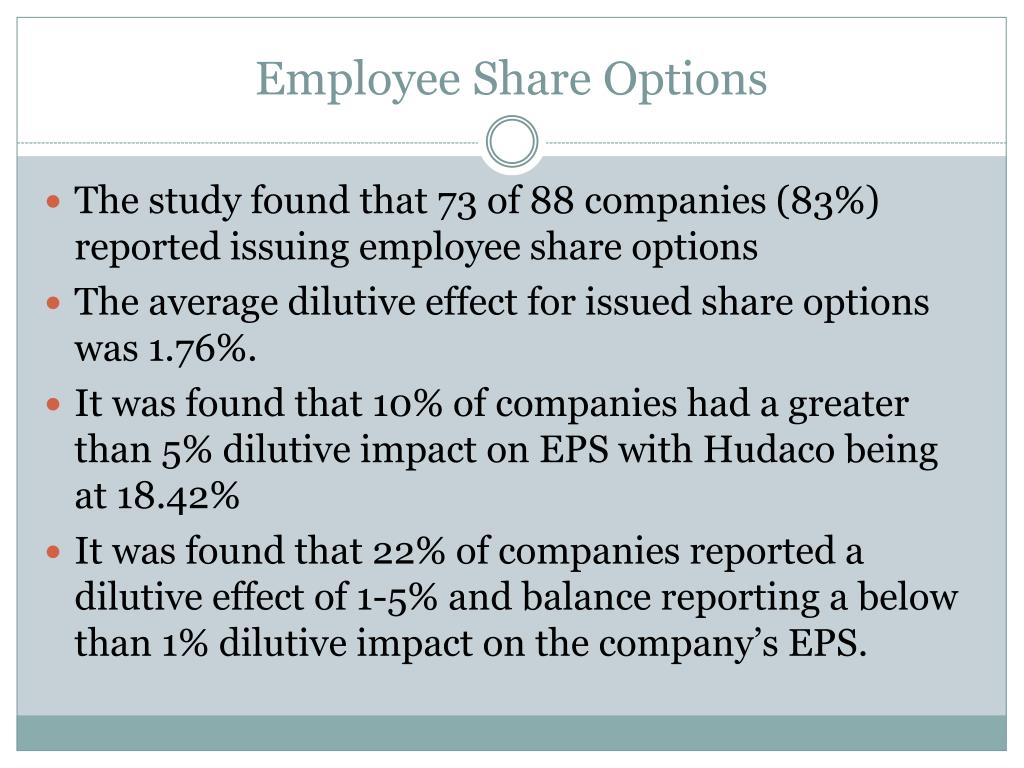 Employee Share Options
