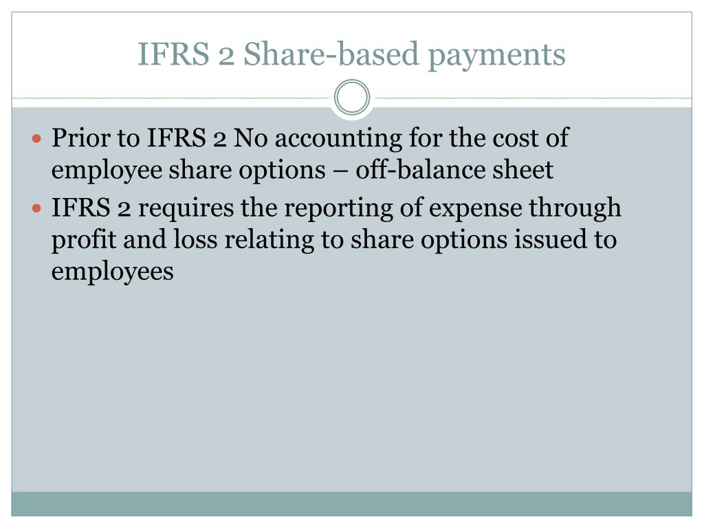 IFRS 2 Share-based payments