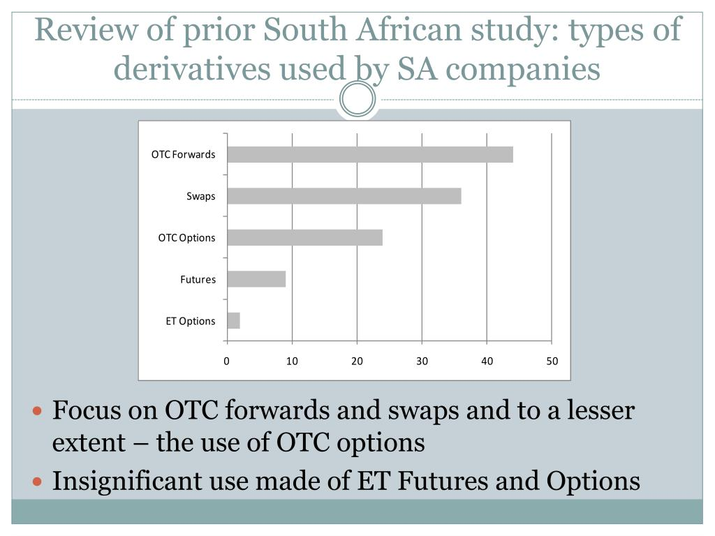 Review of prior South African study: types
