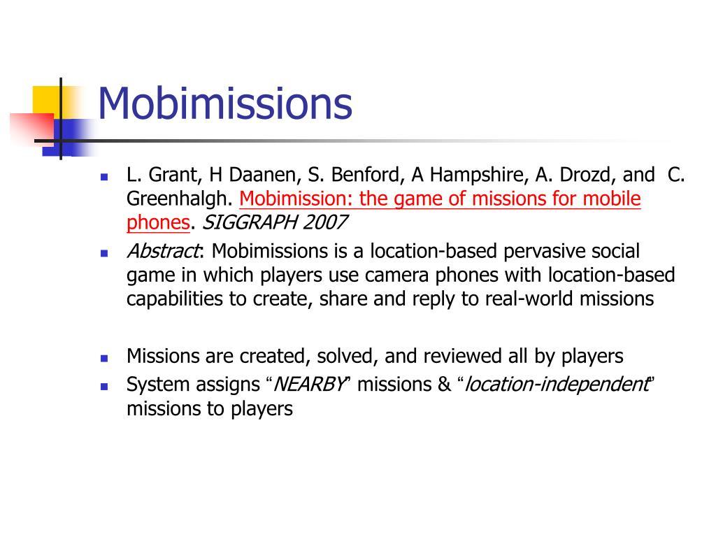 Mobimissions