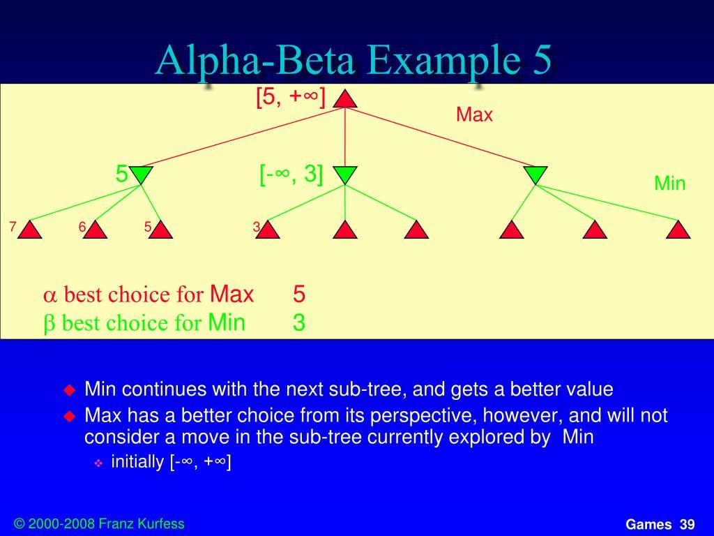 Alpha-Beta Example 5