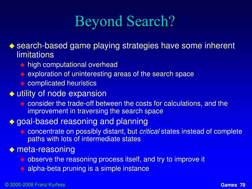 Beyond Search?