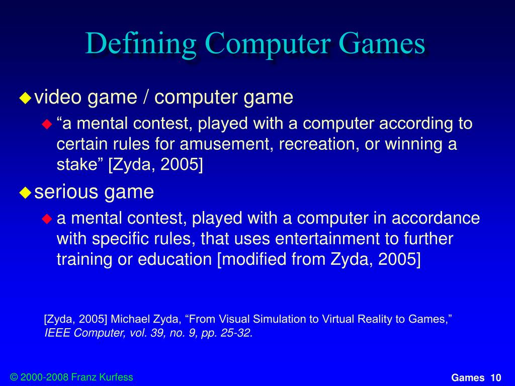 Defining Computer Games