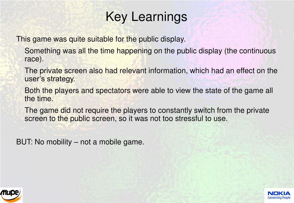 Key Learnings