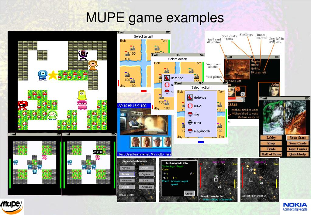 MUPE game examples