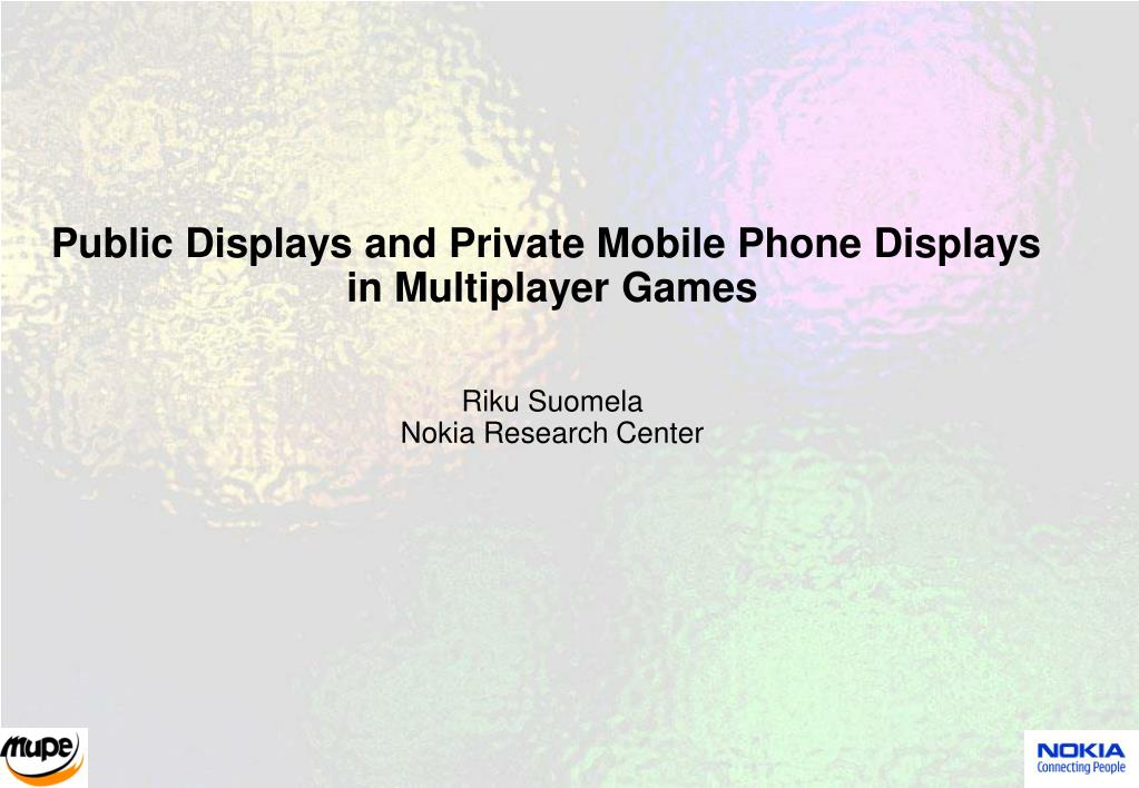 Public Displays and Private Mobile Phone Displays