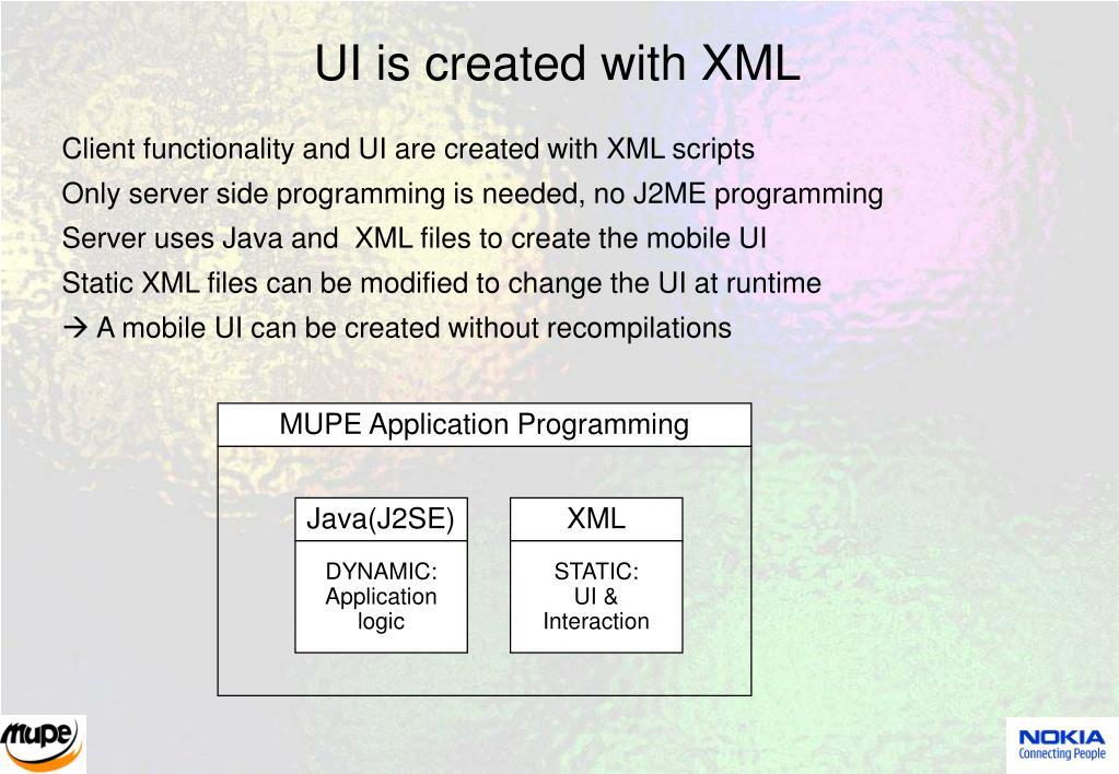 MUPE Application Programming
