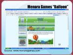 menara games balloon