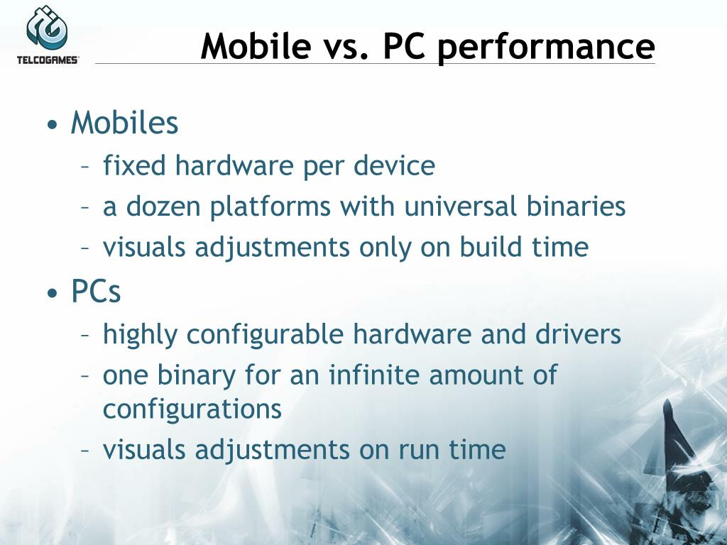Mobile vs. PC performance