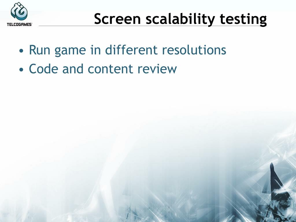 Screen scalability testing