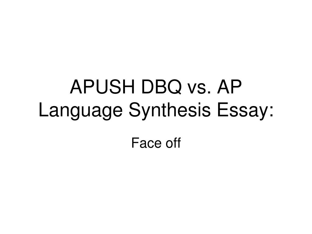 Ap language and composition synthesis essay 2007