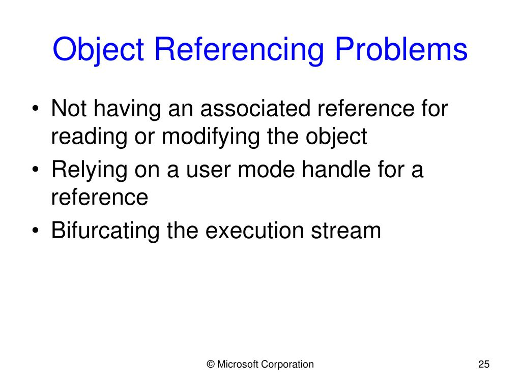 Object Referencing Problems