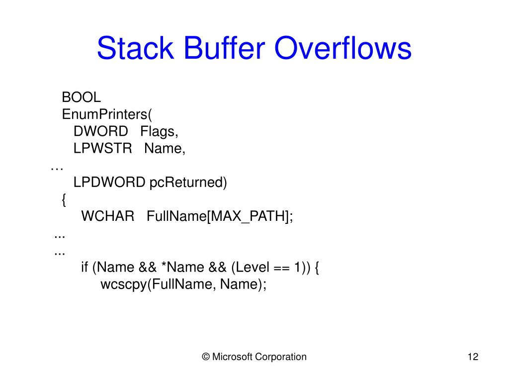 Stack Buffer Overflows