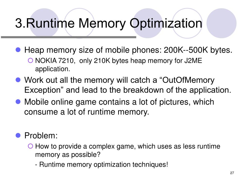 3.Runtime Memory Optimization